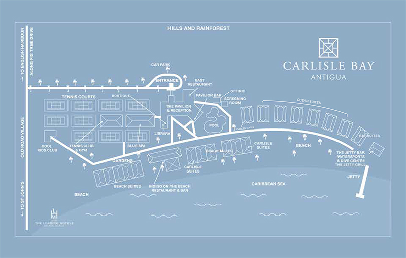 Map Carlisle Bay